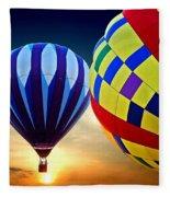 2 Balloons Fleece Blanket