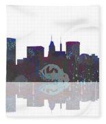 Baltimore Maryland Skyline Fleece Blanket