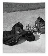 Baseball Glove And Chest Protector Fleece Blanket