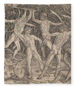 Battle Of The Nudes Fleece Blanket