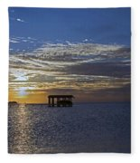 Bay Sunset Fleece Blanket