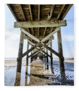 Beach Pier Fleece Blanket