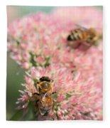 2 Bees Fleece Blanket