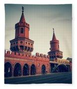 Berlin - Oberbaum Bridge Fleece Blanket