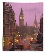Big Ben London England Fleece Blanket