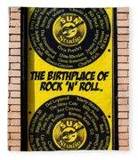 Birthplace Of Rock N Roll Fleece Blanket