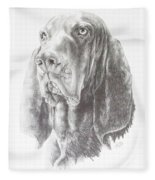 Black And Tan Coonhound Fleece Blanket