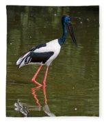 Black-necked Stork Fleece Blanket