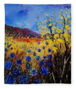 Blue Cornflowers Fleece Blanket