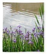 Blue Daffodils Fleece Blanket