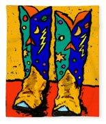 Boots On Yellow Fleece Blanket