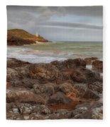 Bracelet Bay And Mumbles Lighthouse Fleece Blanket