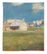 Breton Village Fleece Blanket