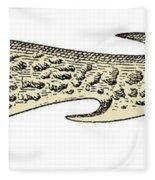 Bronze Age Barbed Point Harpoon Fleece Blanket