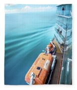 Browsing Around Cruise Ship On The Pacific Ocean Fleece Blanket