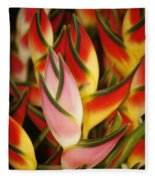 Bunch Of Heliconia Fleece Blanket