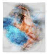 Butterfly Ballerina Watercolor   Fleece Blanket