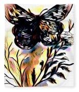 Butterfly Sketch Fleece Blanket