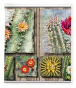 Cactus Collage Fleece Blanket