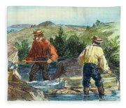 California Gold Rush Fleece Blanket