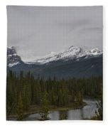 Canadian Rockies Fleece Blanket