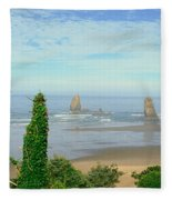 Cannon Beach, Oregon Fleece Blanket
