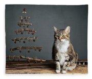 Cat Christmas Fleece Blanket