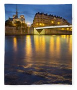 Cathedral Notre Dame - Paris Fleece Blanket