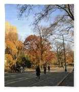 Central Park New York City Fleece Blanket