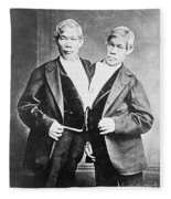 Chang And Eng, Siamese Twins Fleece Blanket