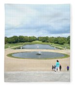 Chantilly Castle Garden In France Fleece Blanket