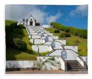 Chapel In Azores Islands Fleece Blanket