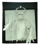 Charles Hall - Creative Arts Program - Spirits Of The Plains Fleece Blanket