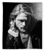 Charlie Hunnam Fleece Blanket