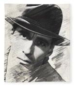 Christopher Lee, Vintage Actor Fleece Blanket