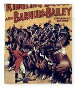 Circus Poster, 1920s Fleece Blanket