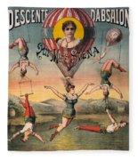 Circus Poster, C1890 Fleece Blanket