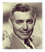 Clark Gable, Vintage Actor Fleece Blanket