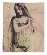Cleo De Merode Fleece Blanket