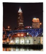 Cleveland Panorama Fleece Blanket
