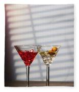 Cocktails At The Bar Fleece Blanket