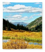 Colorado Mountain Lake In Fall Fleece Blanket