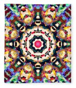 Colorful Concentric Abstract Fleece Blanket