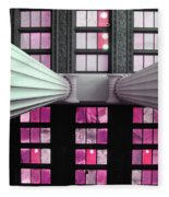 2 Column Stain Pink Fleece Blanket
