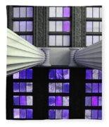 2 Column Stain Purple Fleece Blanket