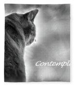 Contemplation Monochrome Fleece Blanket