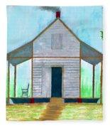 Cracker Cabin Drawing Fleece Blanket