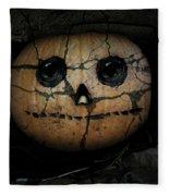Creepy Halloween Pumpkin Fleece Blanket