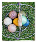 Croquet Balls Fleece Blanket