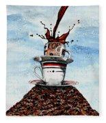 2 Cups Coffee Fleece Blanket